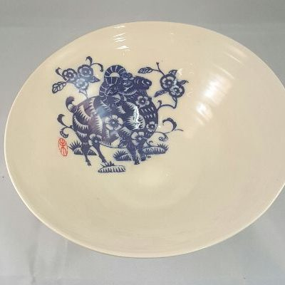 Chinese motif large sald bowl Di Turner_small